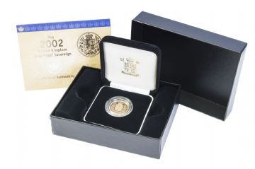 2002 Proof Full Gold Sovereign